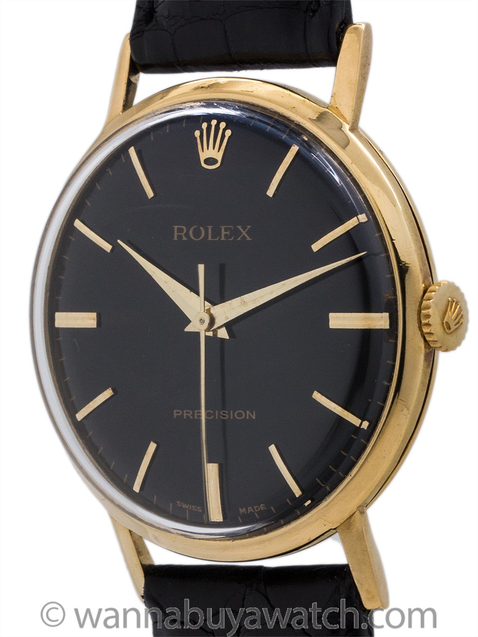 Rolex 14K Gold Manual Wind Dress Model ref 9708 circa 1950's