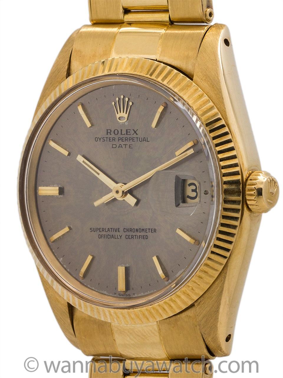 Rolex 18K YG Oyster Perpetual Date ref 1503 circa 1967