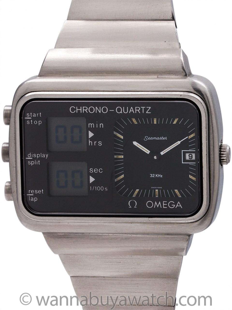 Omega Seamaster Chrono-Quartz Montreal Olympics circa 1976