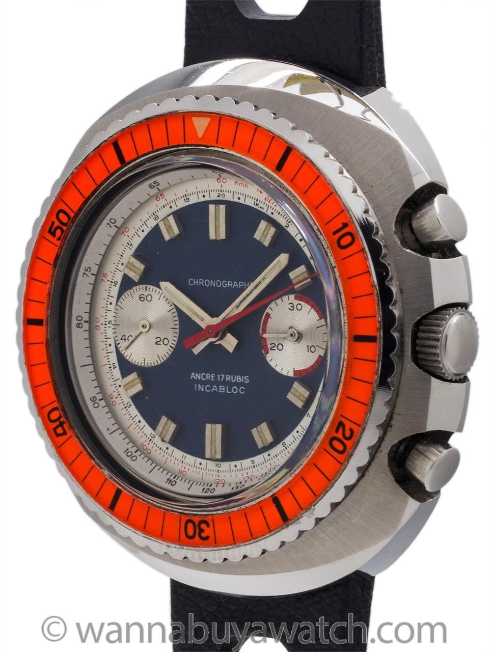 Swiss Chronograph Valjoux 7733 circa 1960's