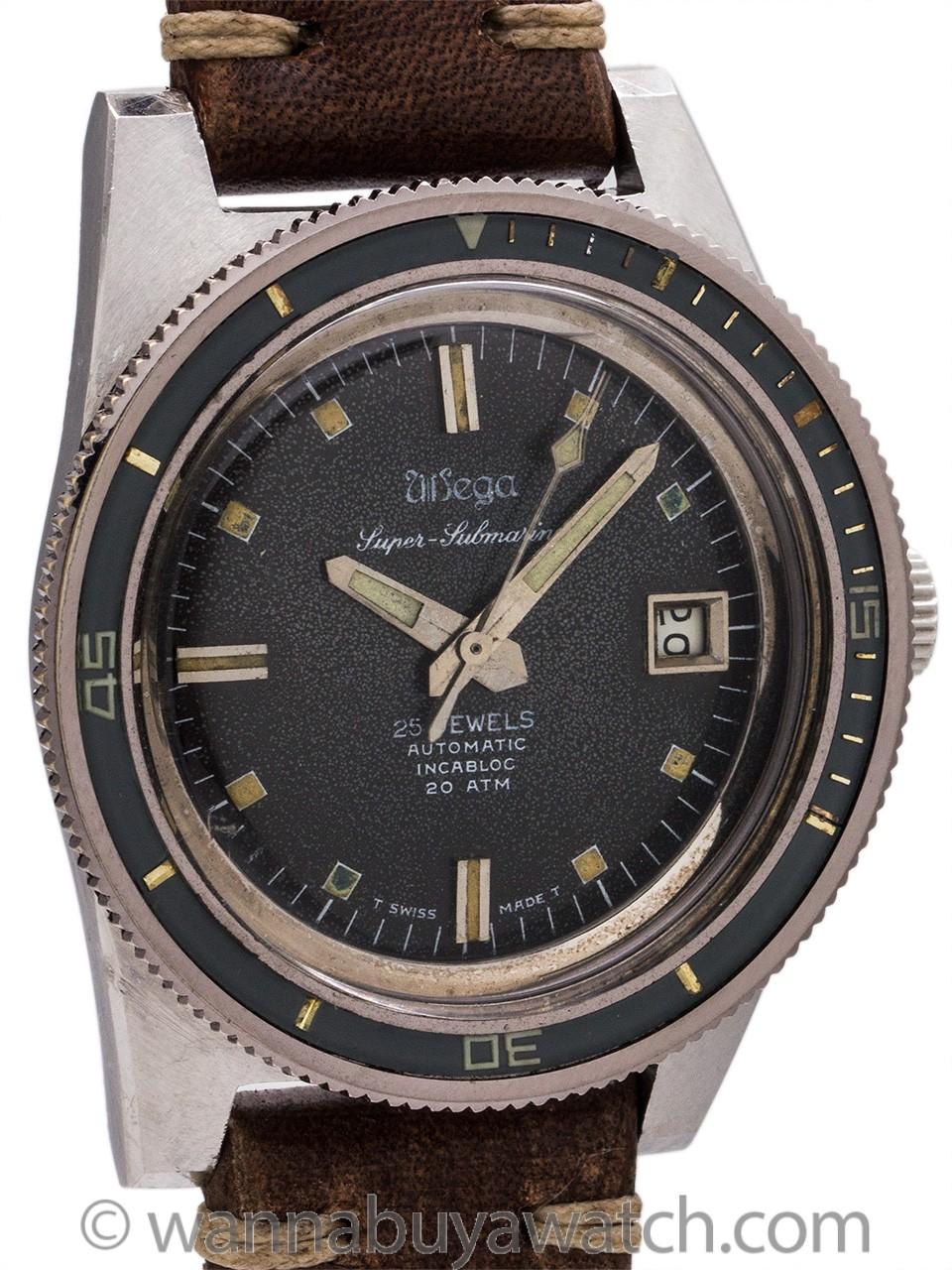 """Wega Super Submarino"" Swiss Vintage Diver's circa 1960's"