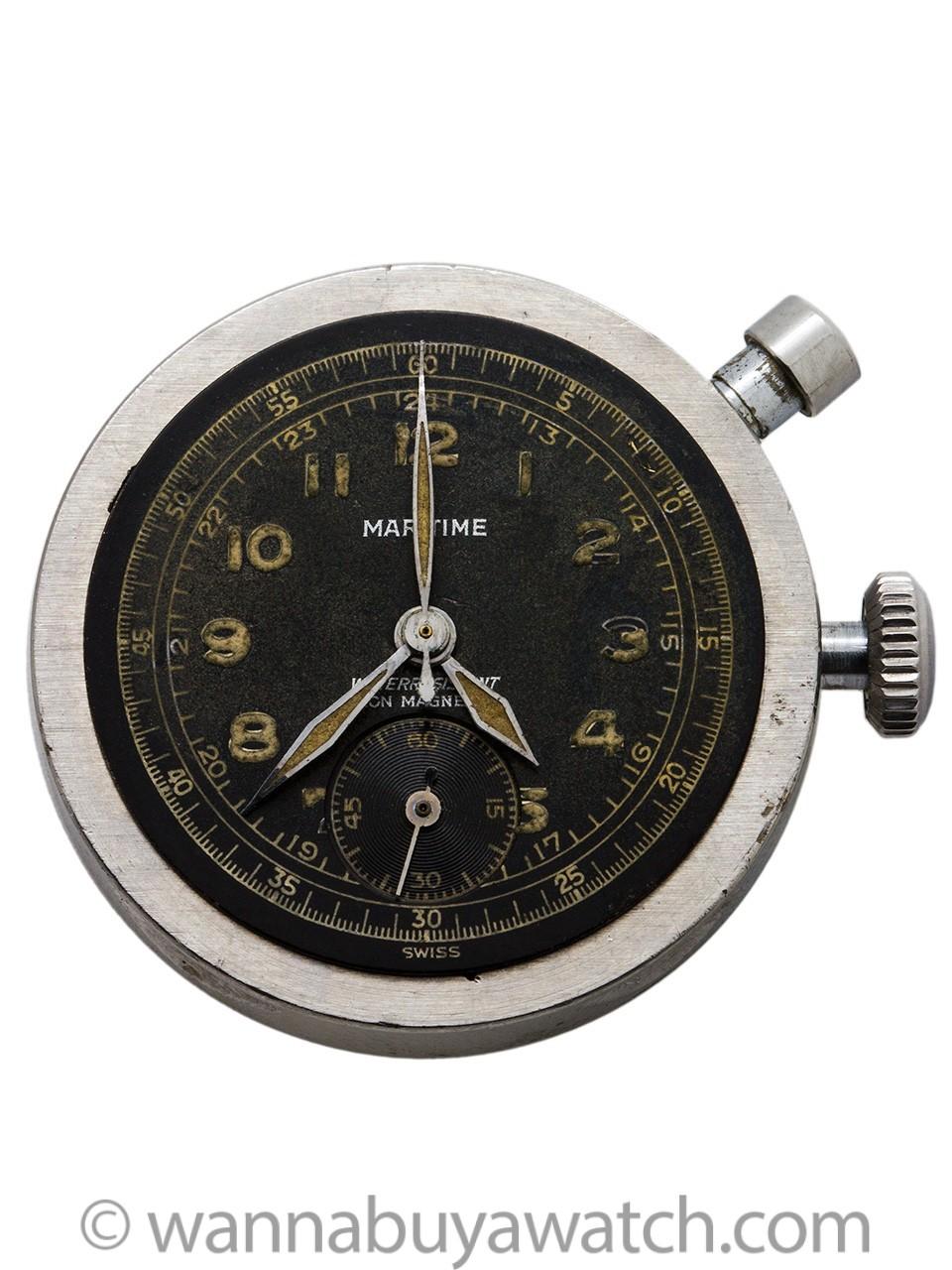 Maritime SS Chronograph Boy's Size circa 1940's