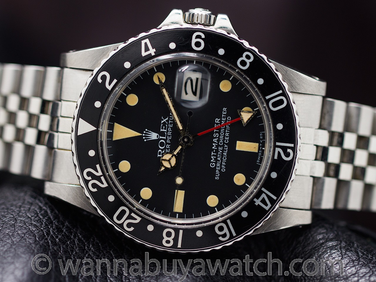 Rolex SS GMT-Master Transitional ref 16750 circa 1981 #'d Hang Tag