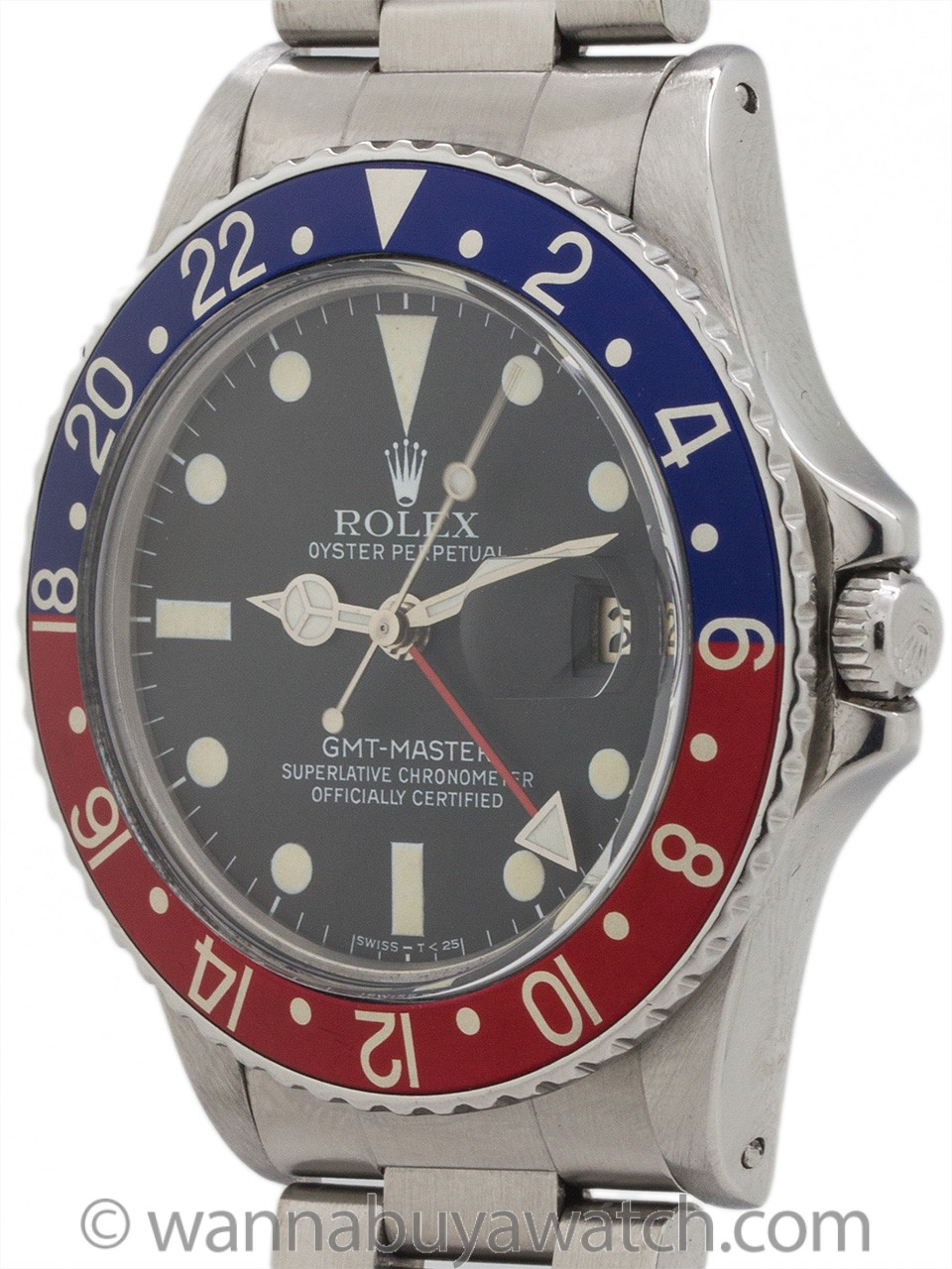 Rolex GMT ref 16750 Stainless Transitional Model circa 1984