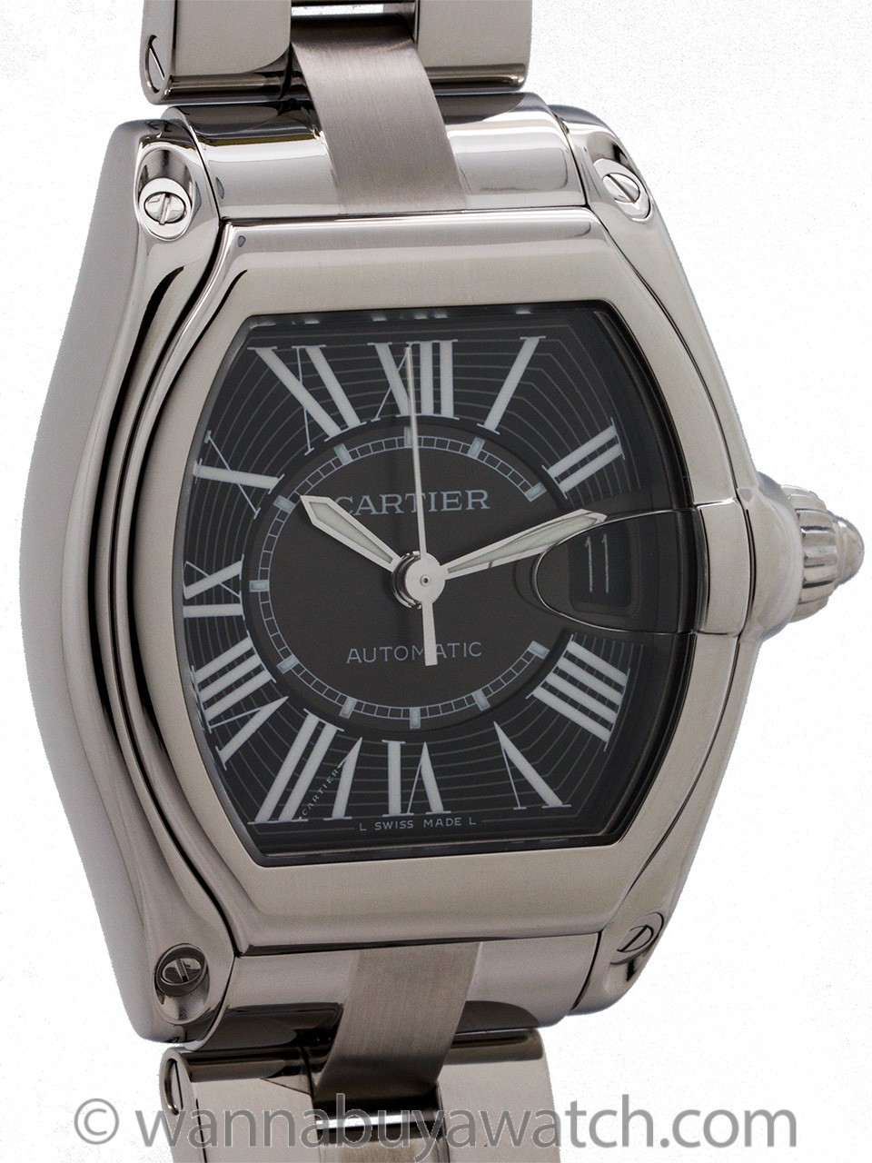 Cartier Man's Roadster Stainless Steel circa 2000s