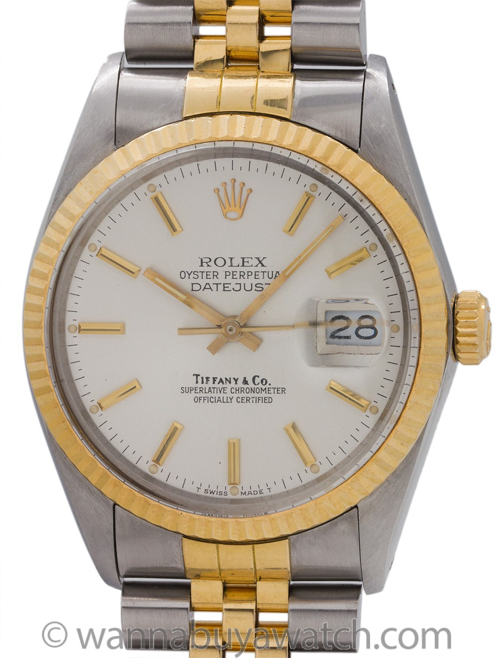 Rolex Datejust ref 16013 Tiffany & Co SS/18K YG circa 1989 Presidential Provenance?