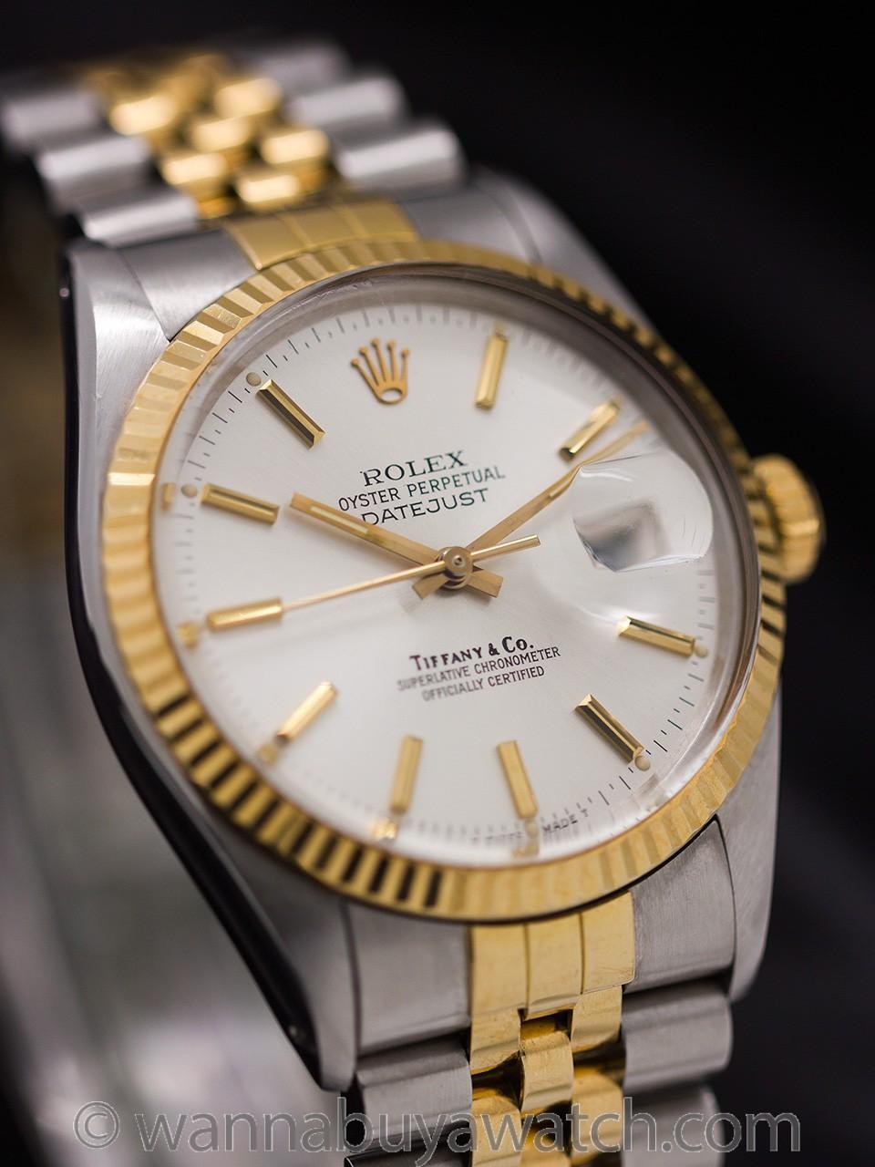 Rolex Datejust ref 16013 Tiffany & Co SS/18K YG circa 1989 Presidential Provenance?