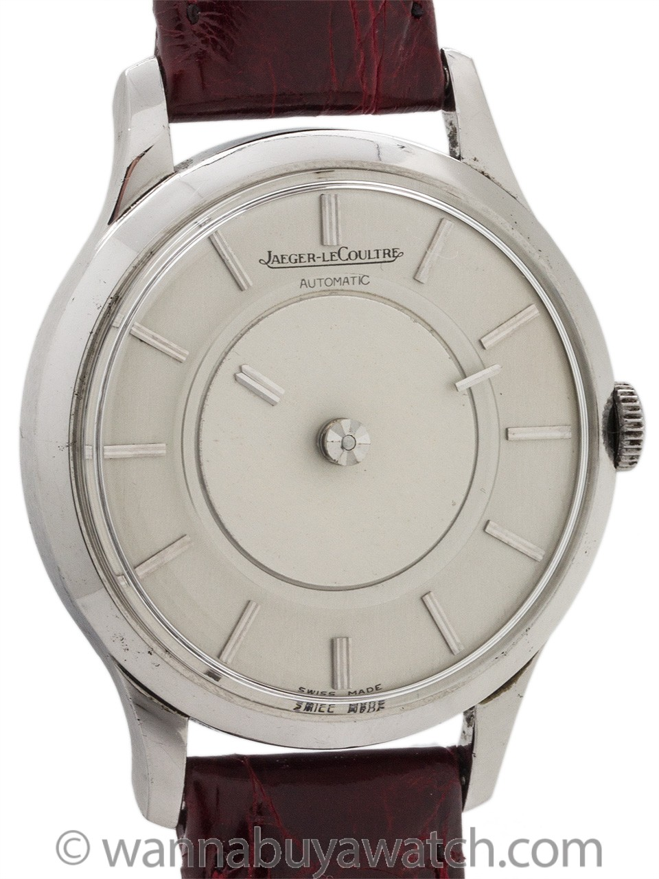 Jaeger Lecoultre Mystery Dial Stainless Steel Automatic circa 1960's