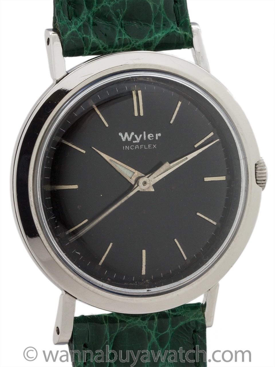 Wyler Incaflex Stainless Steel circa 1960