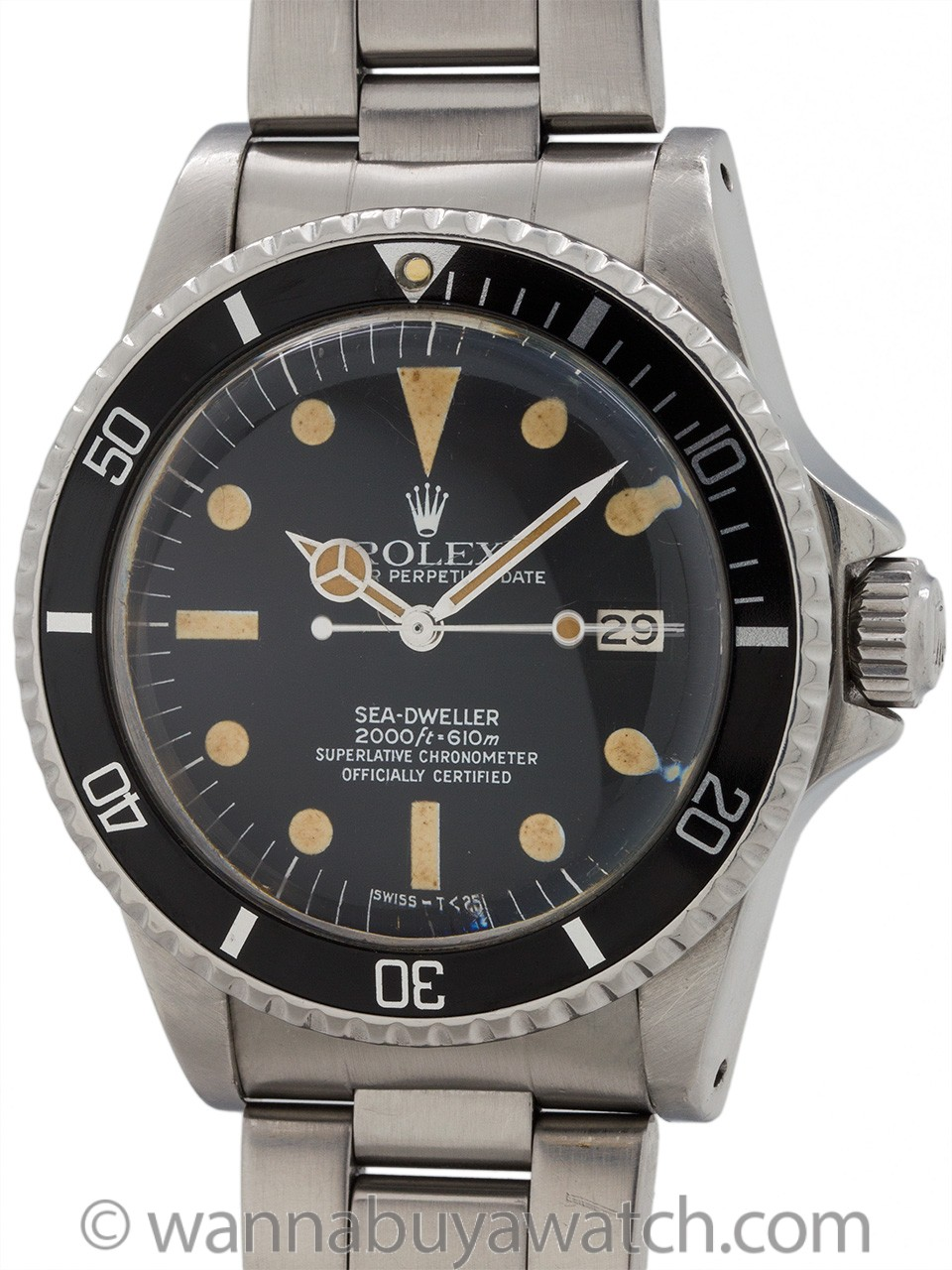 "Rolex Seadweller ref 1665 ""Great White"" circa 1978"