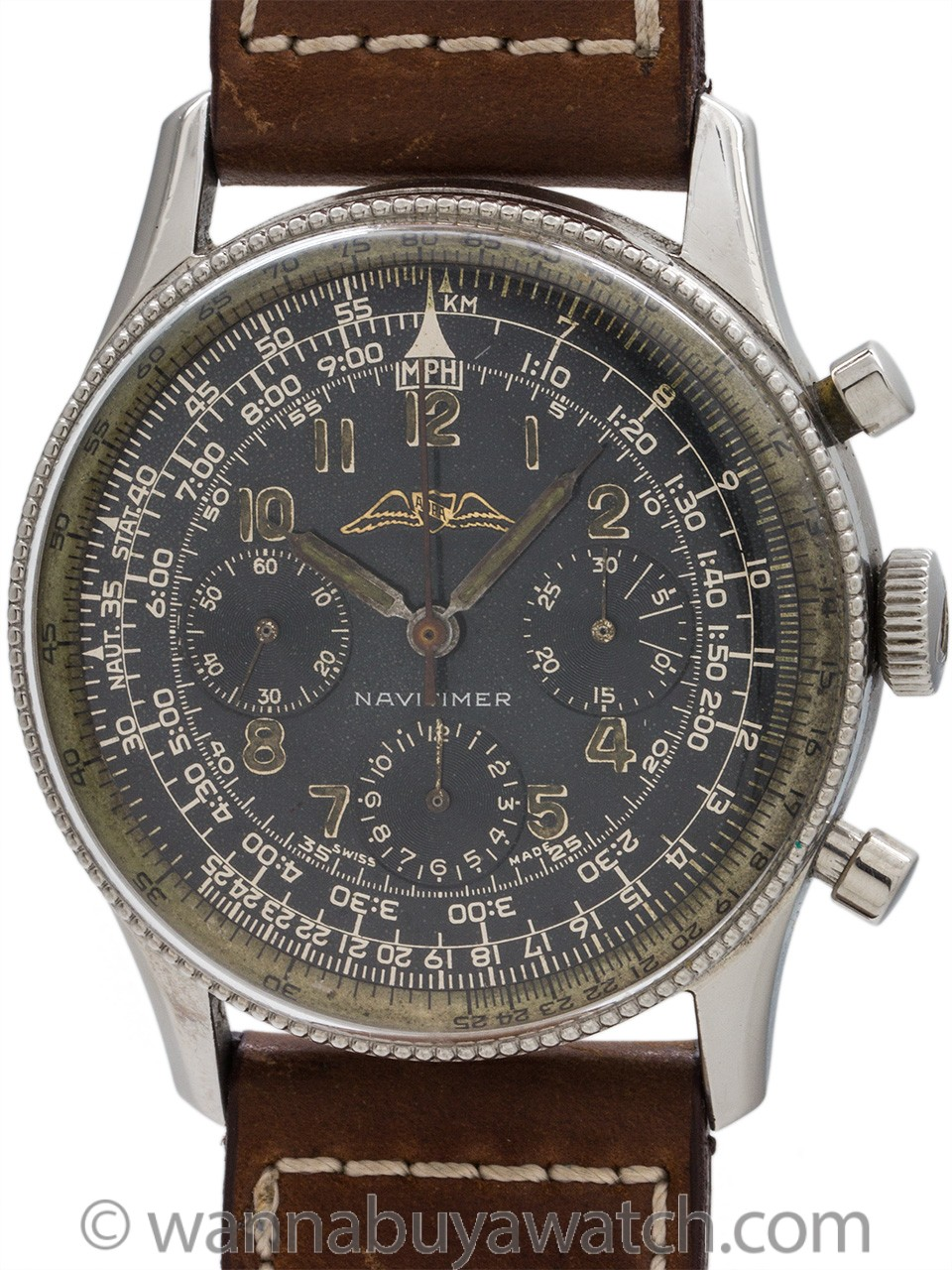 Breitling Navitimer AOPA Valjoux 72 pre 806 circa 1956 with Provenance