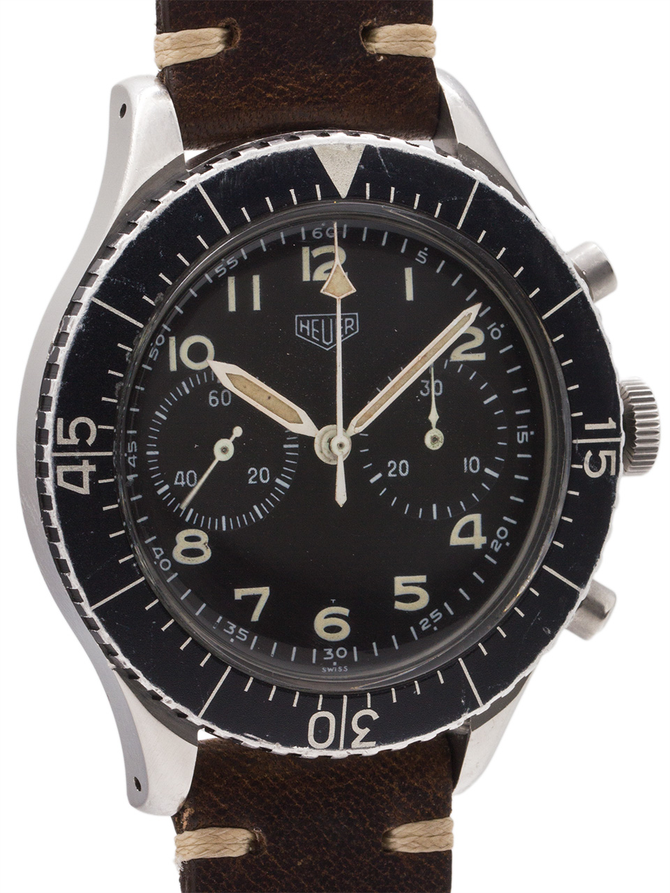 Heuer Bundeswehr Pilot's Flyback Chronograph circa 1960