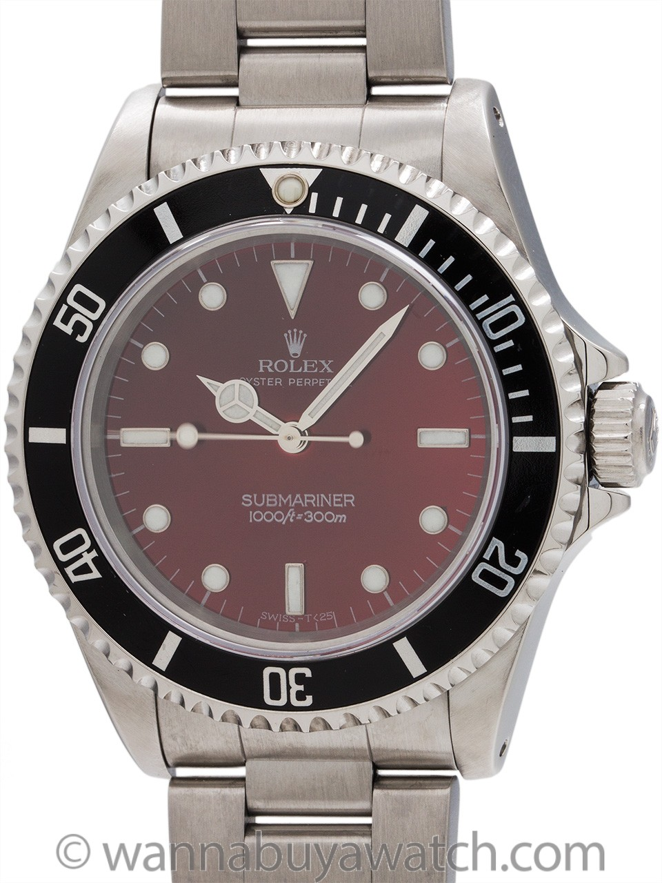 "Rolex Submariner ref 14060 Custom ""Candy Red"" circa 1996"