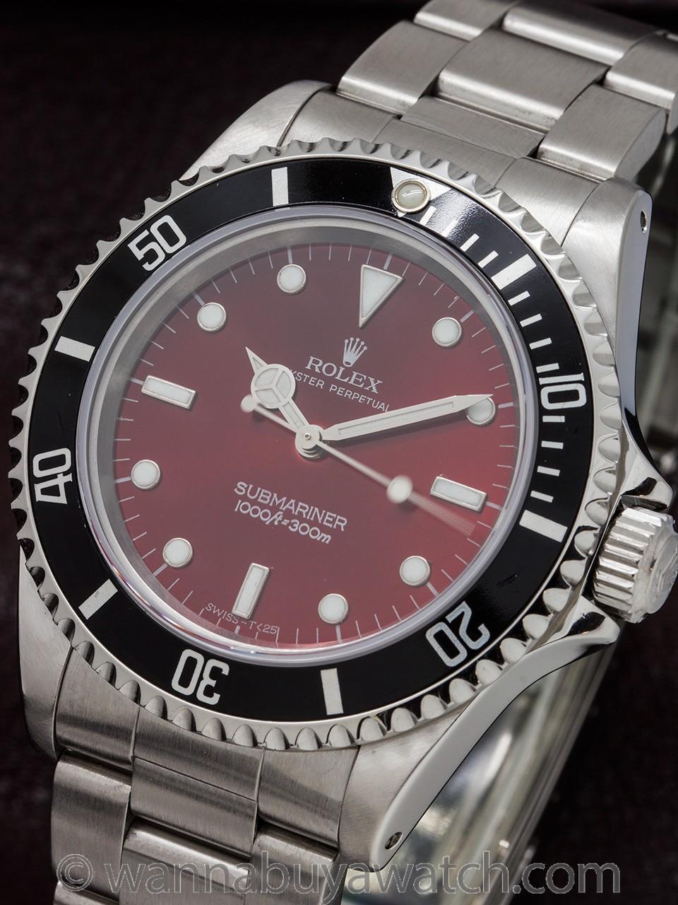 "Rolex Submariner ref 14060 Custom ""Candy Red"" circa 1996"