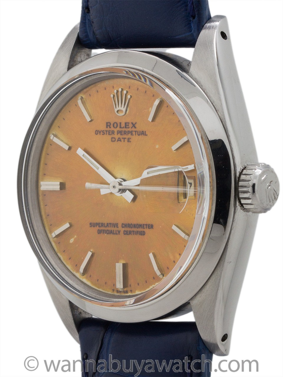 Rolex Oyster Perpetual Date ref 1500 Color Change Dial circa 1965