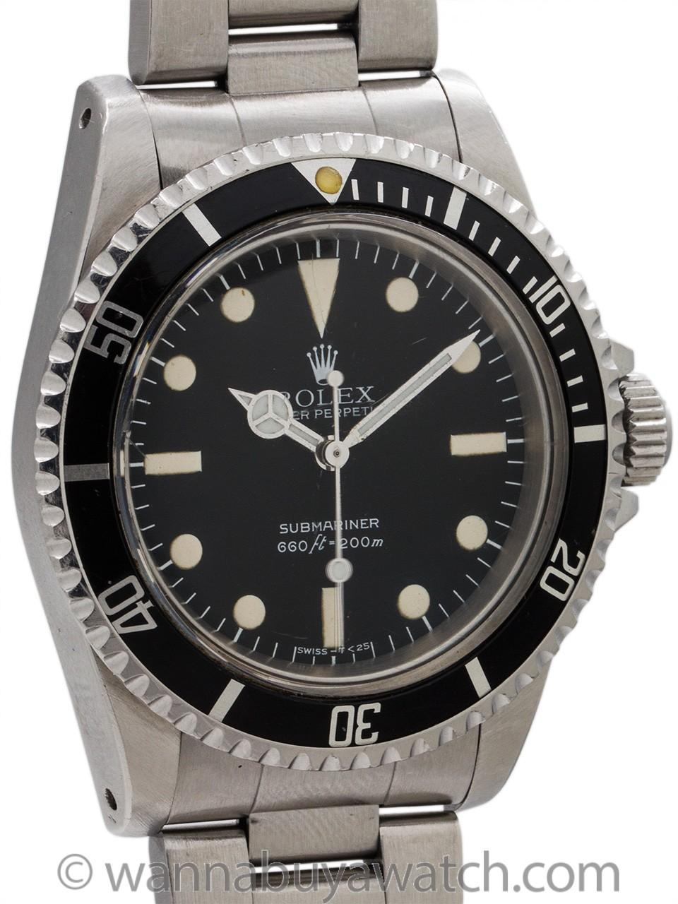 Rolex Submariner ref 5513 Maxi Dial circa 1980