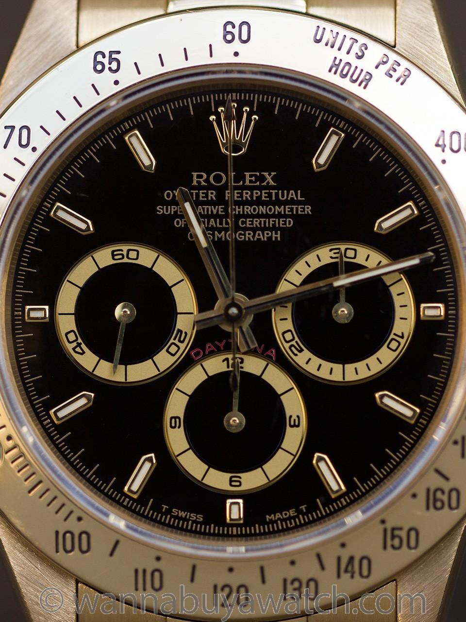"""Rolex """"Zenith"""" Daytona ref 16528 18K YG circa 1997"""