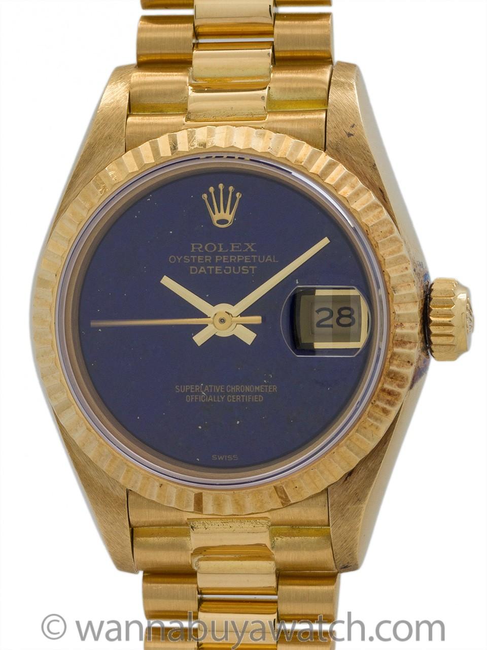 Rolex Lady President ref 69178 Lapis Lazuli circa 1985 MINT!