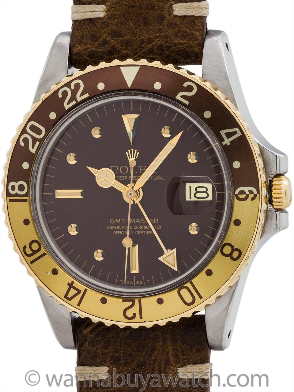 Rolex GMT-Master ref# 1675 SS/14K YG circa 1977