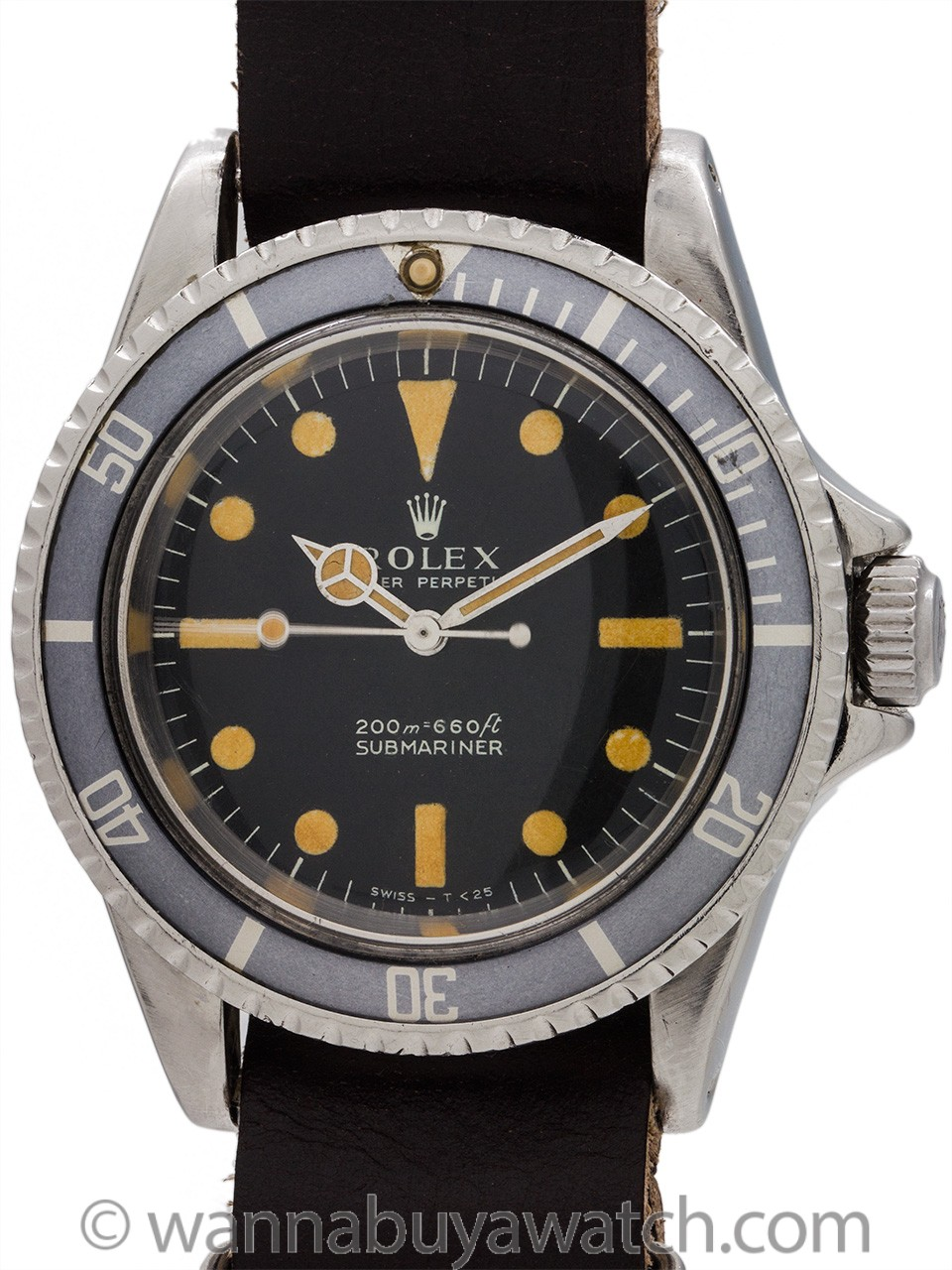 "Rolex Submariner ref 5513 Meters 1st ""Pumpkin"" Ghost Bezel circa 1968"