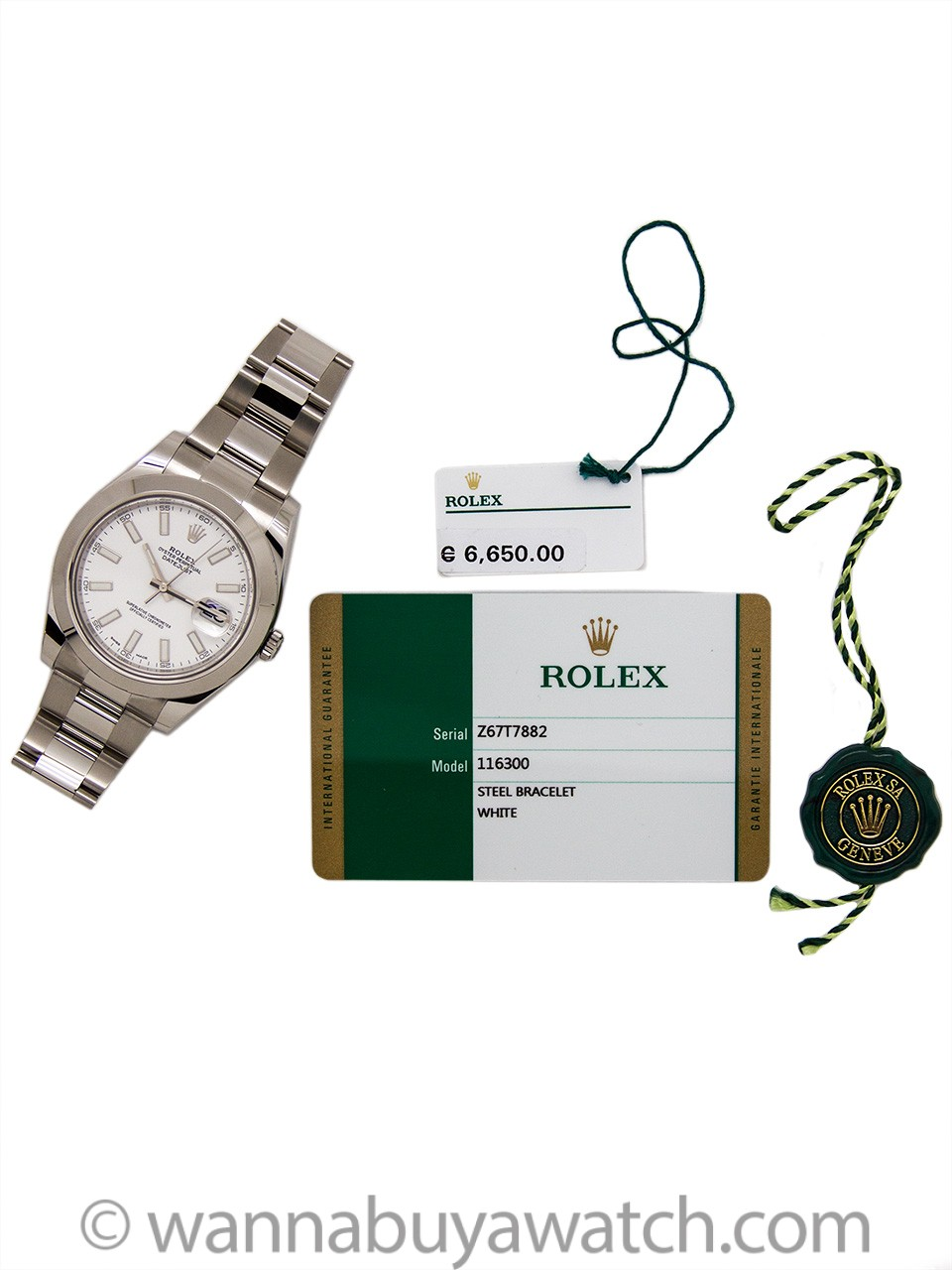 Rolex Datejust ll ref# 116300 White Dial circa 2017 Unworn B & P