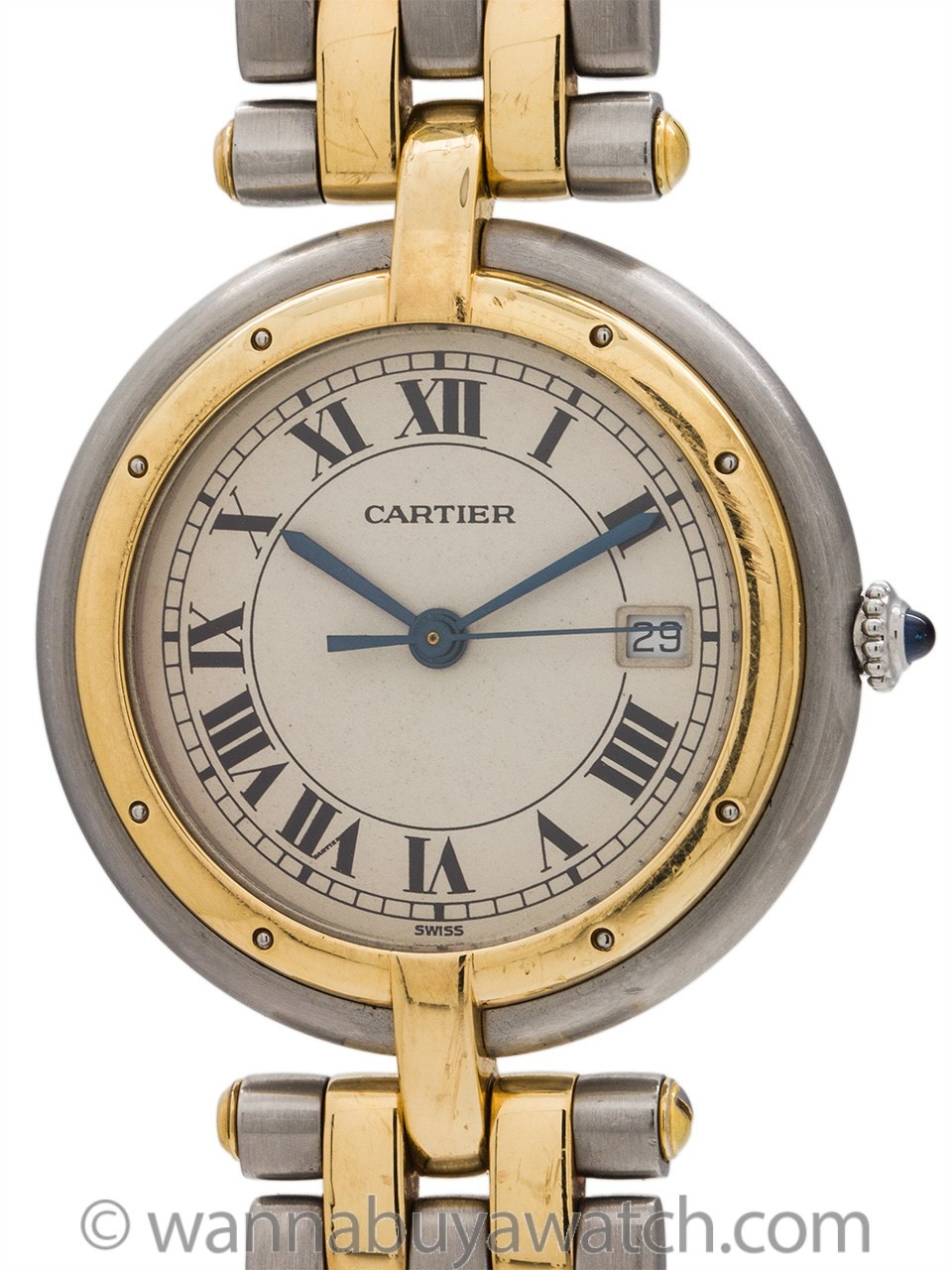Cartier Man's Vendome Panther SS/18K YG circa 2000's