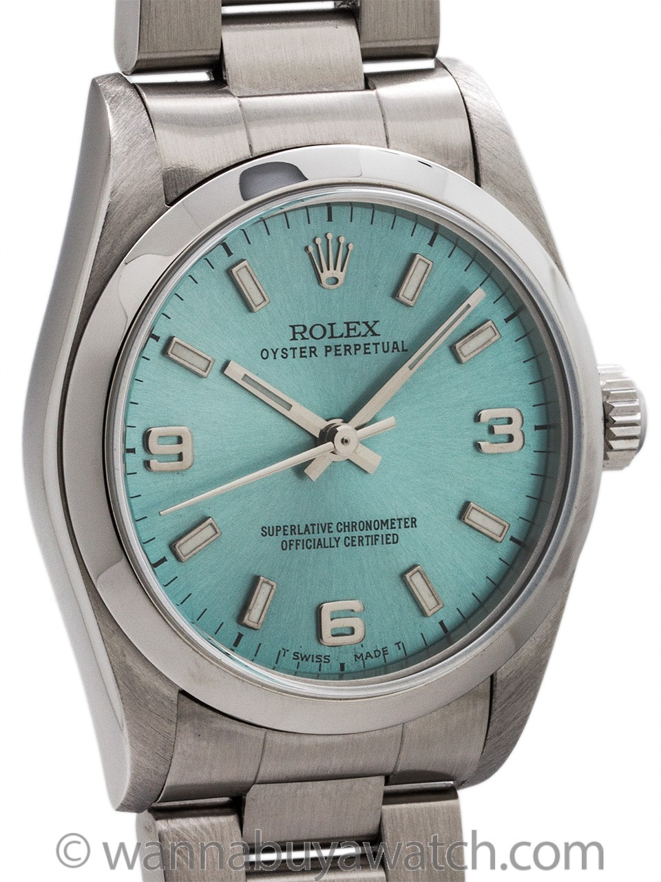 "Rolex Oyster Perpetual Midsize ref 77080 ""Ice Blue"" circa 2001"