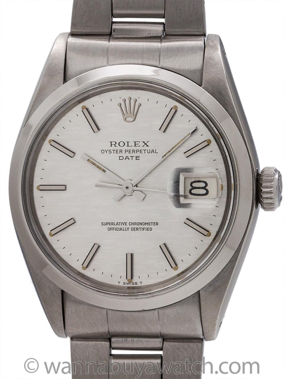 Rolex Oyster Perpetual Date ref 1500 Linen Dial circa 1972