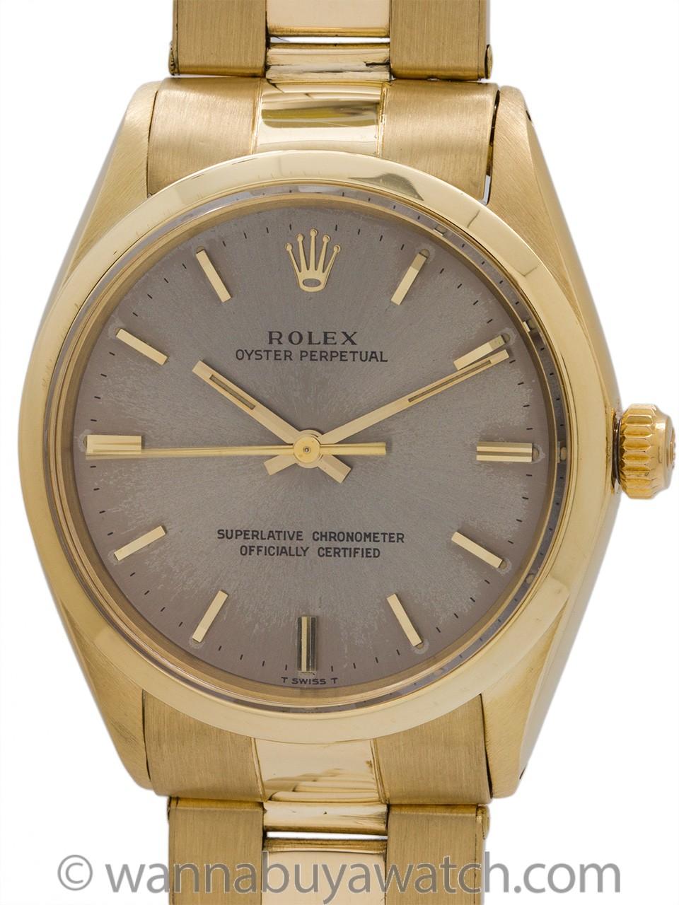 Rolex 14K YG Oyster Perpetual ref 1002 circa 1964