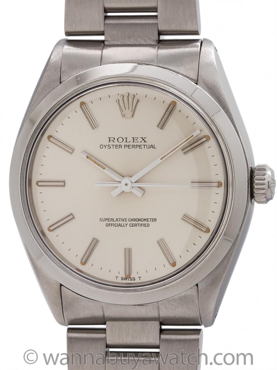 Rolex Oyster Perpetual ref 1002 Chronometer circa 1980