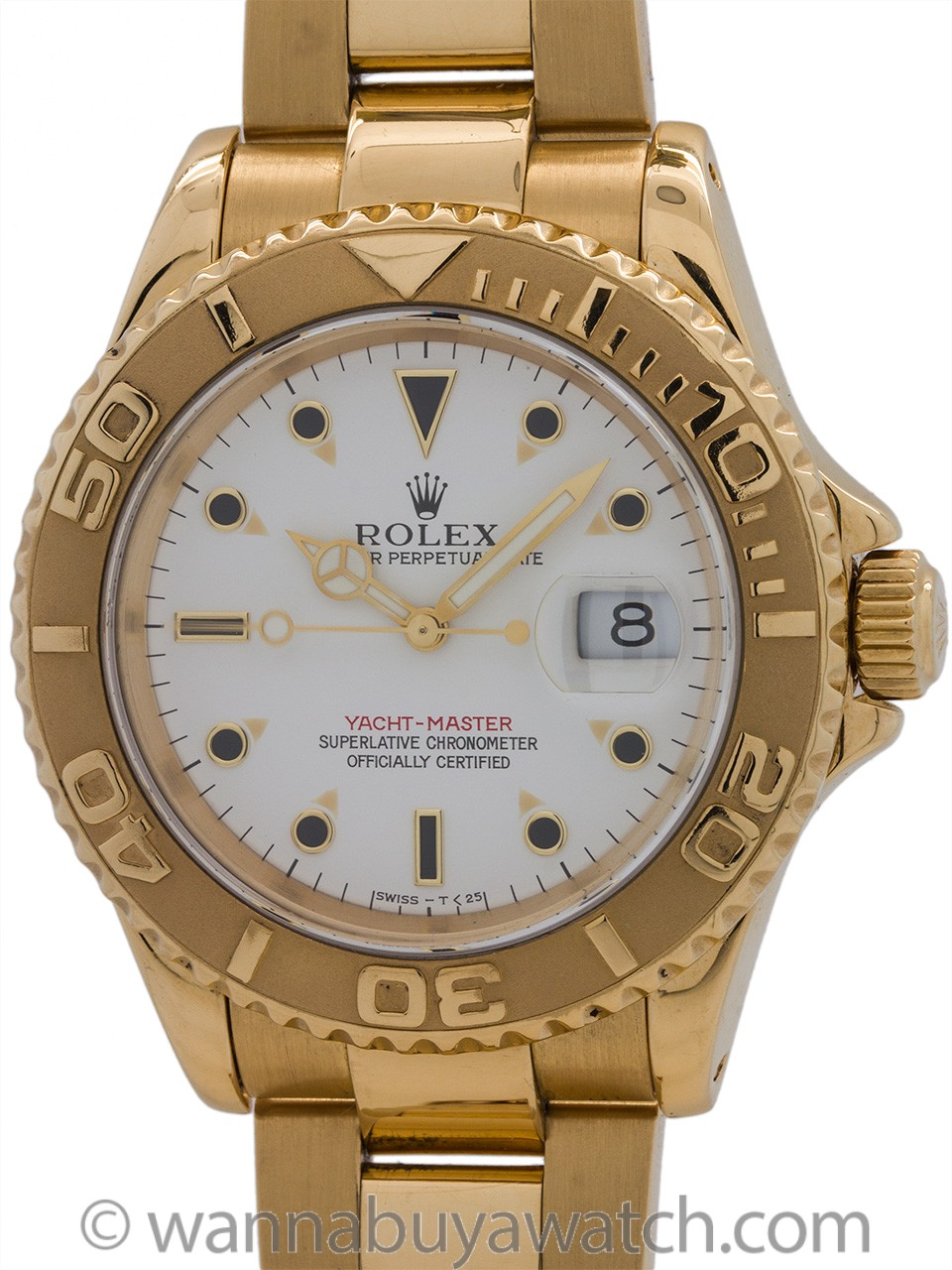 Rolex Man's Yachtmaster 18K YG ref 16628 circa 1990's