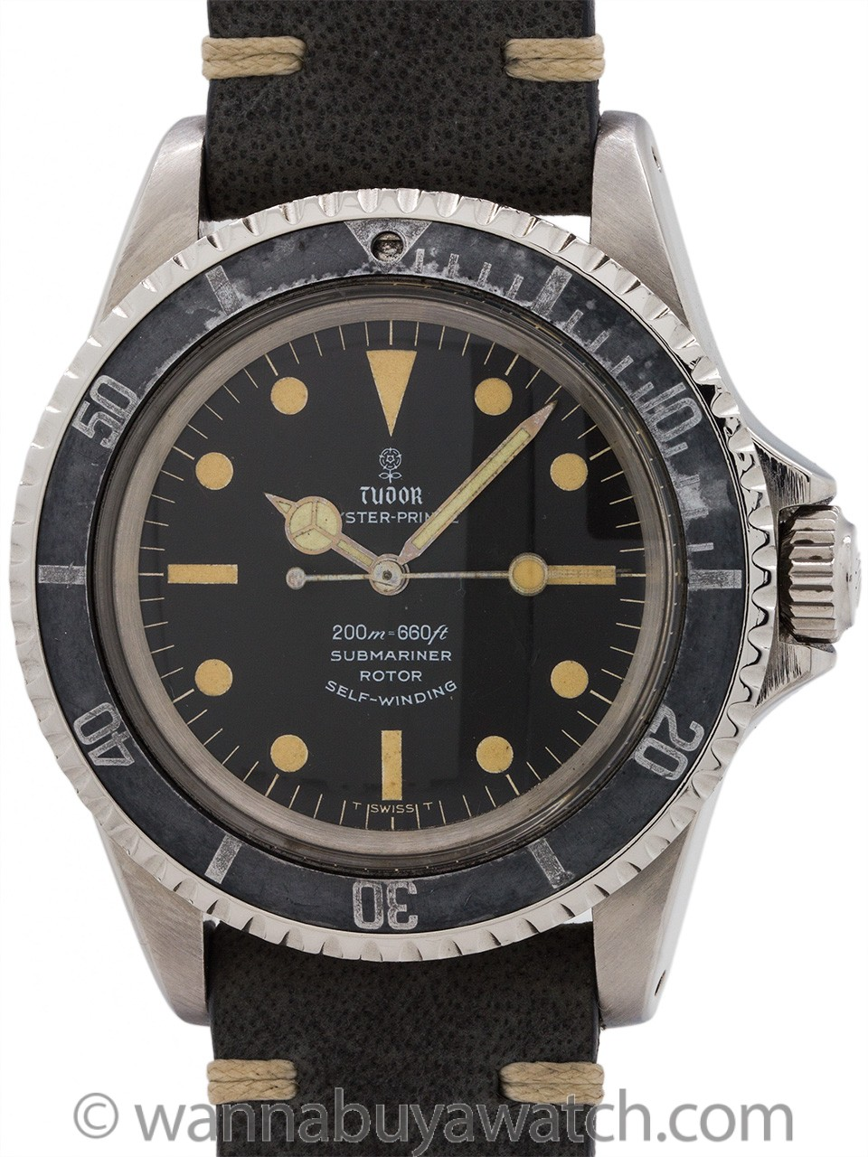 Tudor ref 7928 Submariner Gilt Flower Logo Dial circa 1966