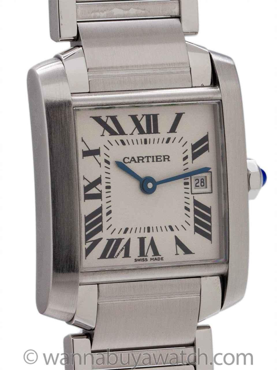 Cartier Tank Francaise MIdsize Stainless Steel circa 2000+