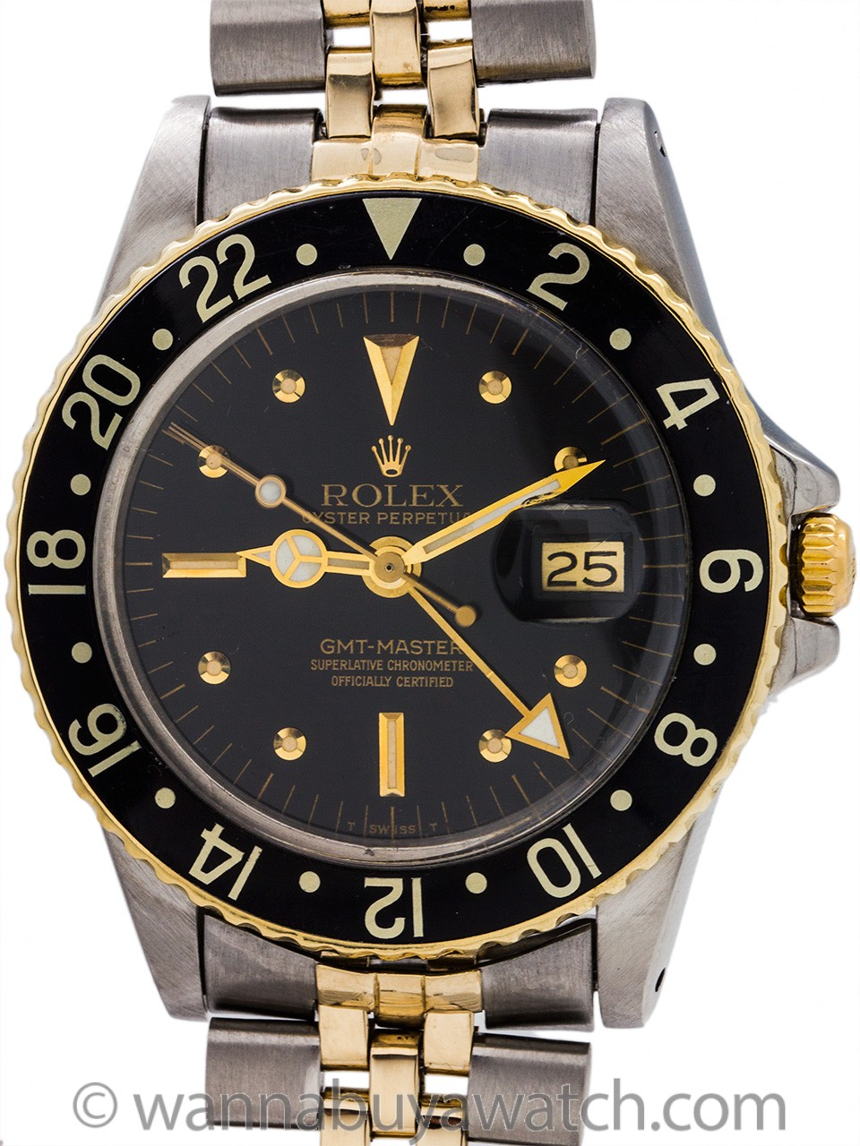 Rolex GMT ref 1675/3 SS/14K YG circa 1978/79