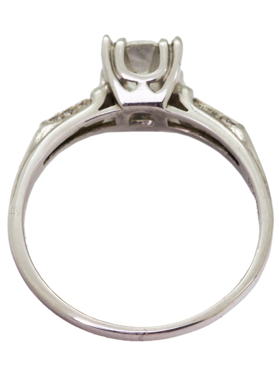 Vintage Engagement Ring Platinum 0.91ct Round Brilliant G-VS1, circa 1940s