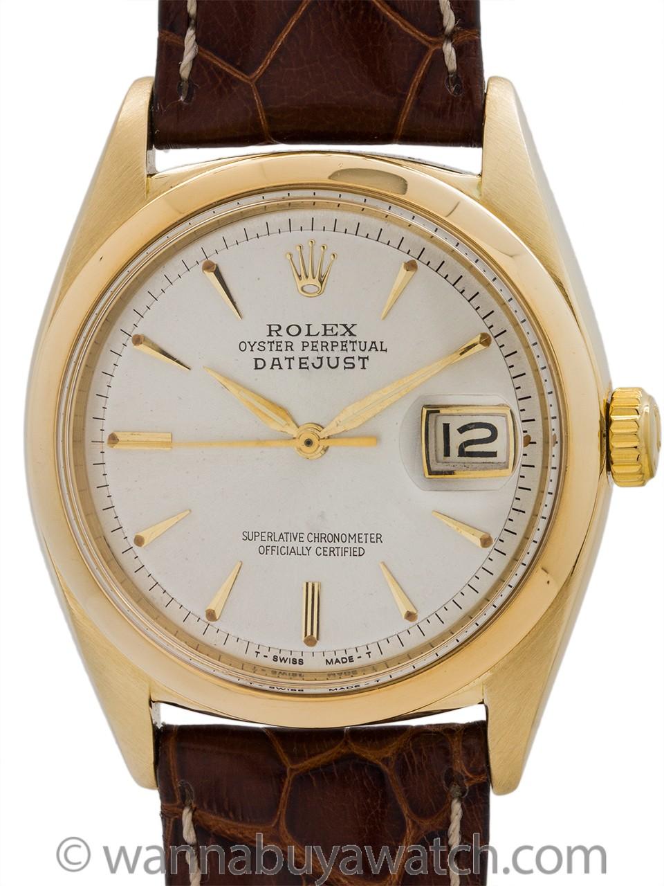 Rolex 14K YG Datejust ref 1601 circa 1962