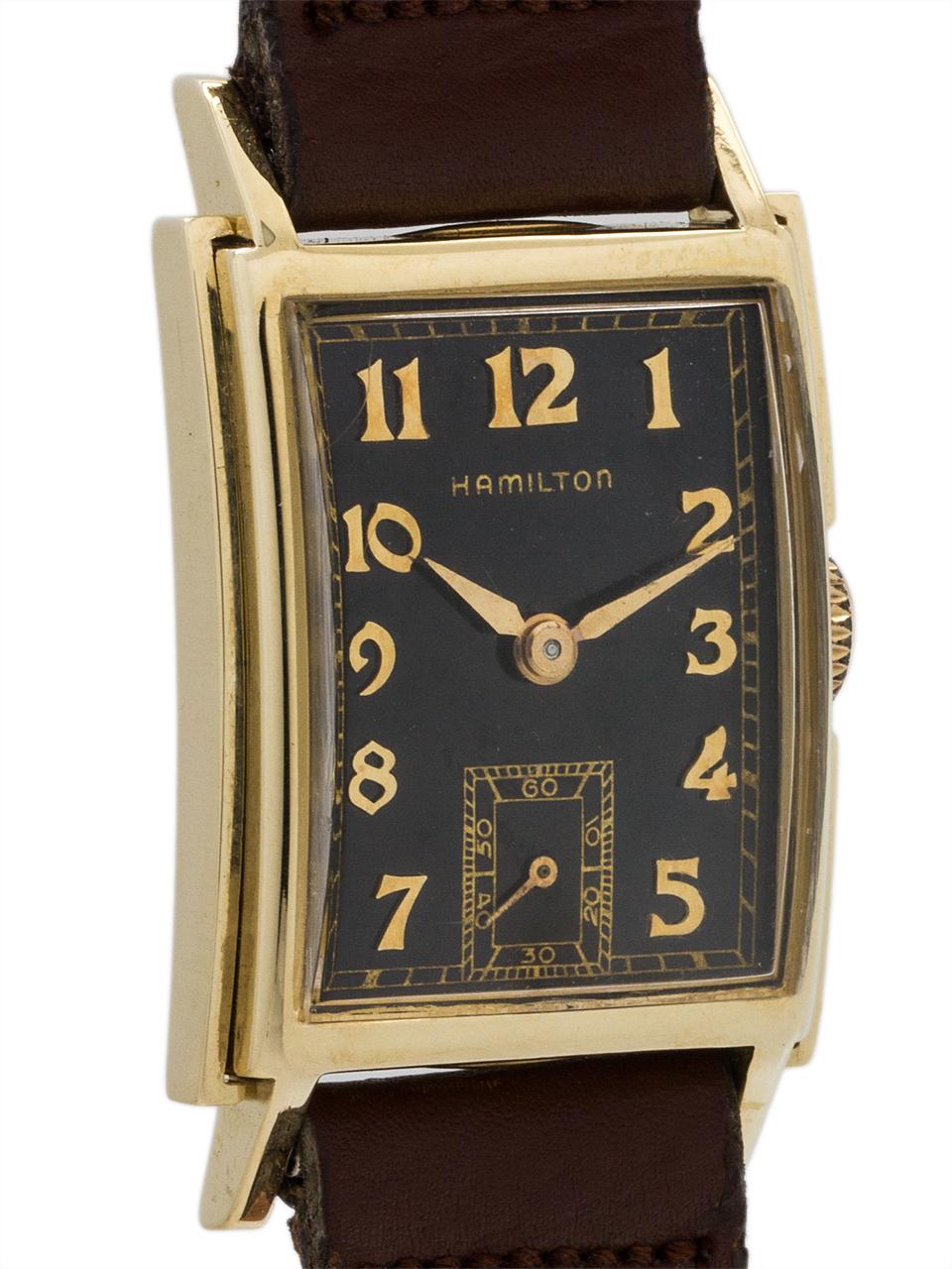 "Hamilton ""Dunkirk"" 14K Gold circa 1940's"