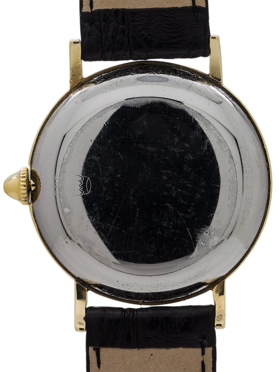 Rolex Gold Top Dress Model ref 4325 circa 1950's