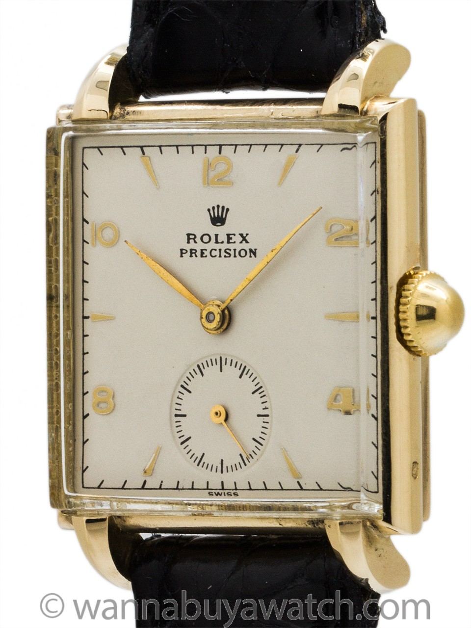 Rolex Ref 4330 14K Manual Wind Dress Model circa 1940's