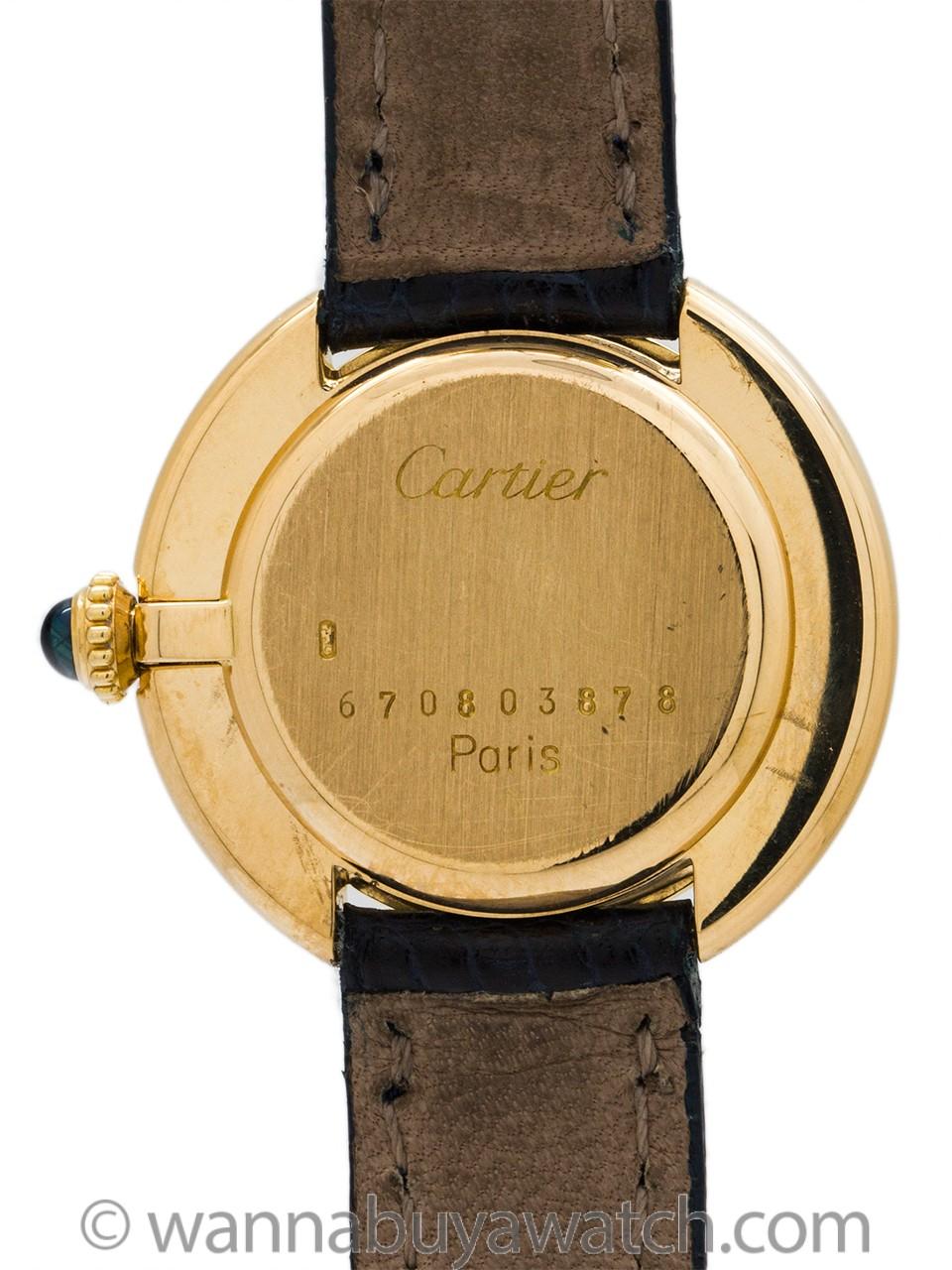 Cartier Vendome Tank Lady's 18K circa 1970's