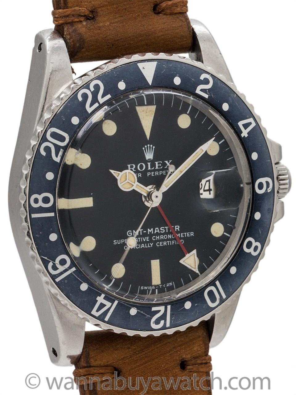 Rolex GMT ref# 1675 Stainless Steel circa 1971