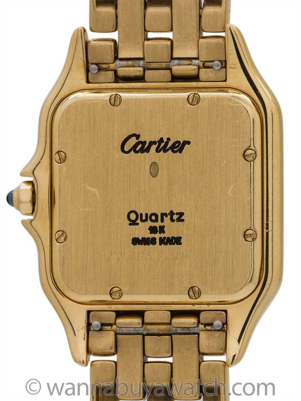 Cartier Man's Panther 18K YG circa 1980's