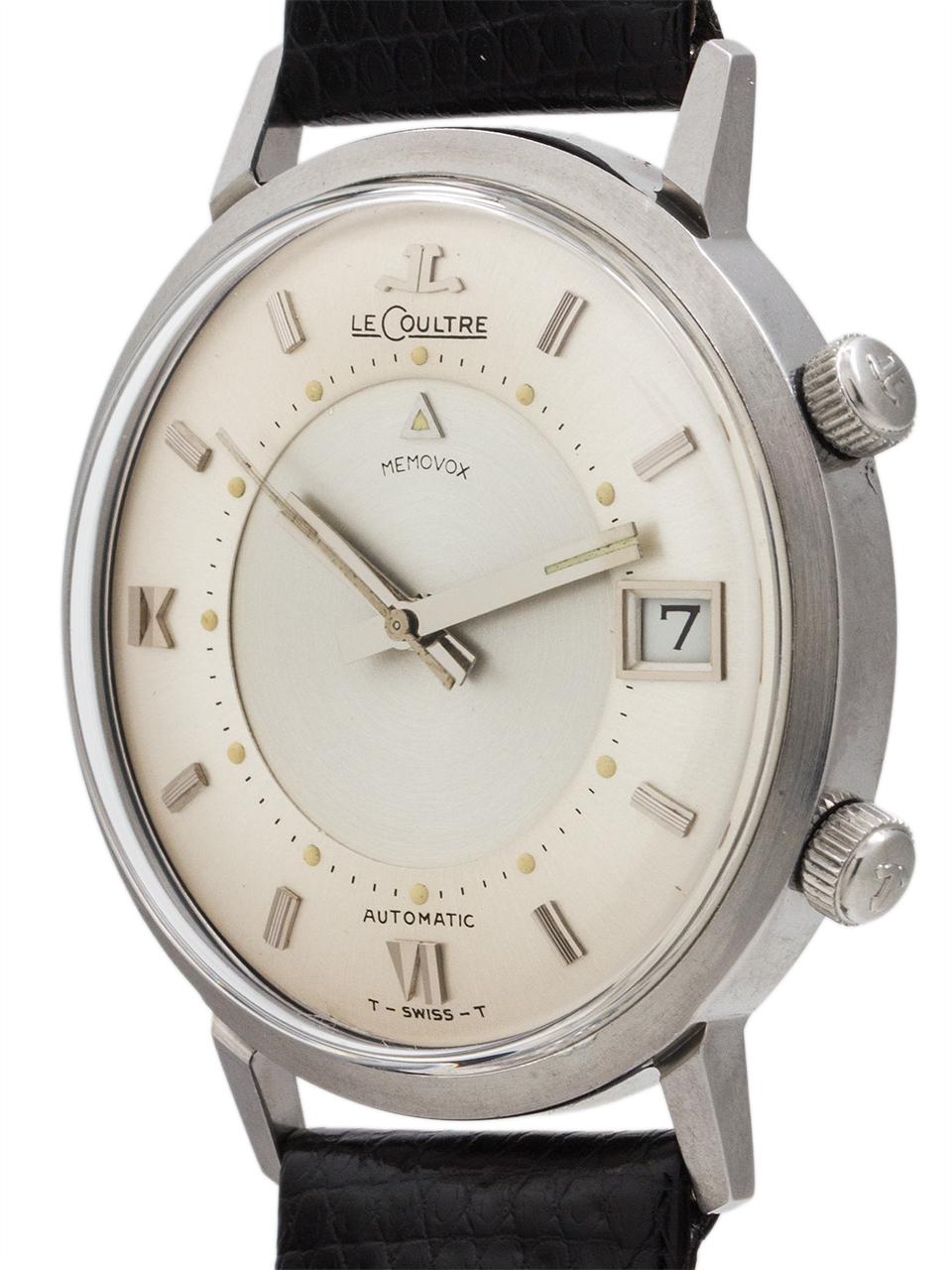 "Lecoultre Automatic Memovox Alarm ""Jumbo"" circa 1964"