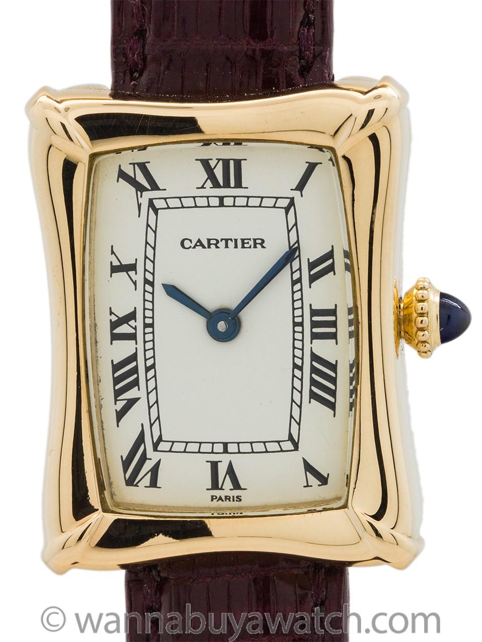Cartier Bamboo Tank Lady's 18K circa 1970's