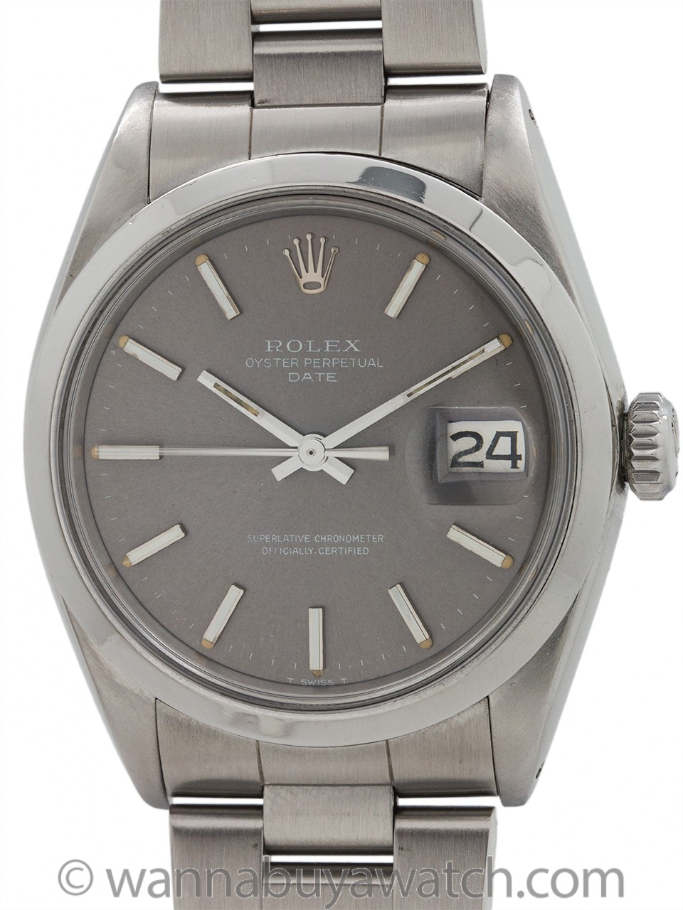 Rolex Oyster Perpetual Date ref 1500 Gray Dial circa 1969