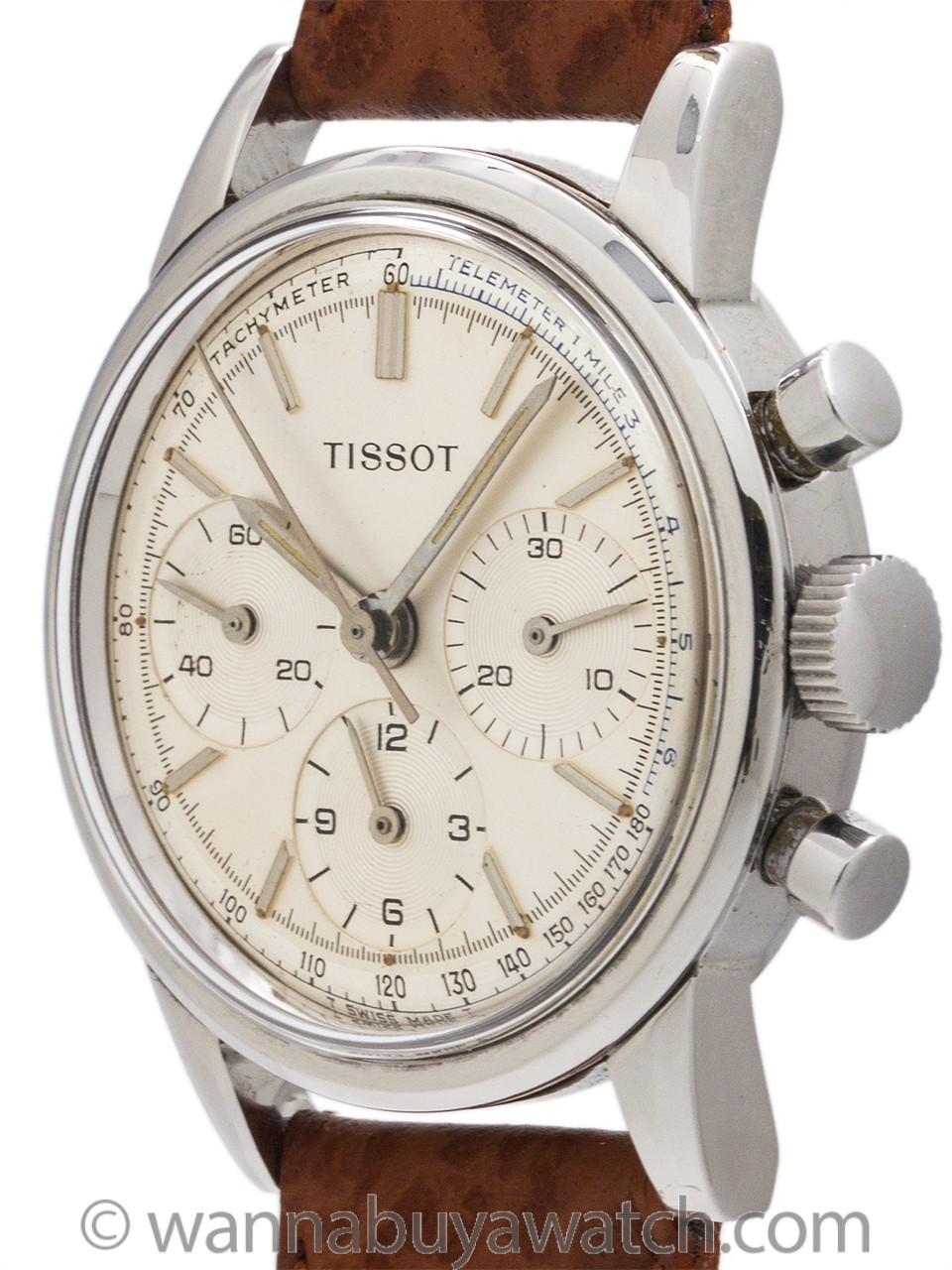 Tissot Triple Registers Stainless Steel Chronograph circa 1960's