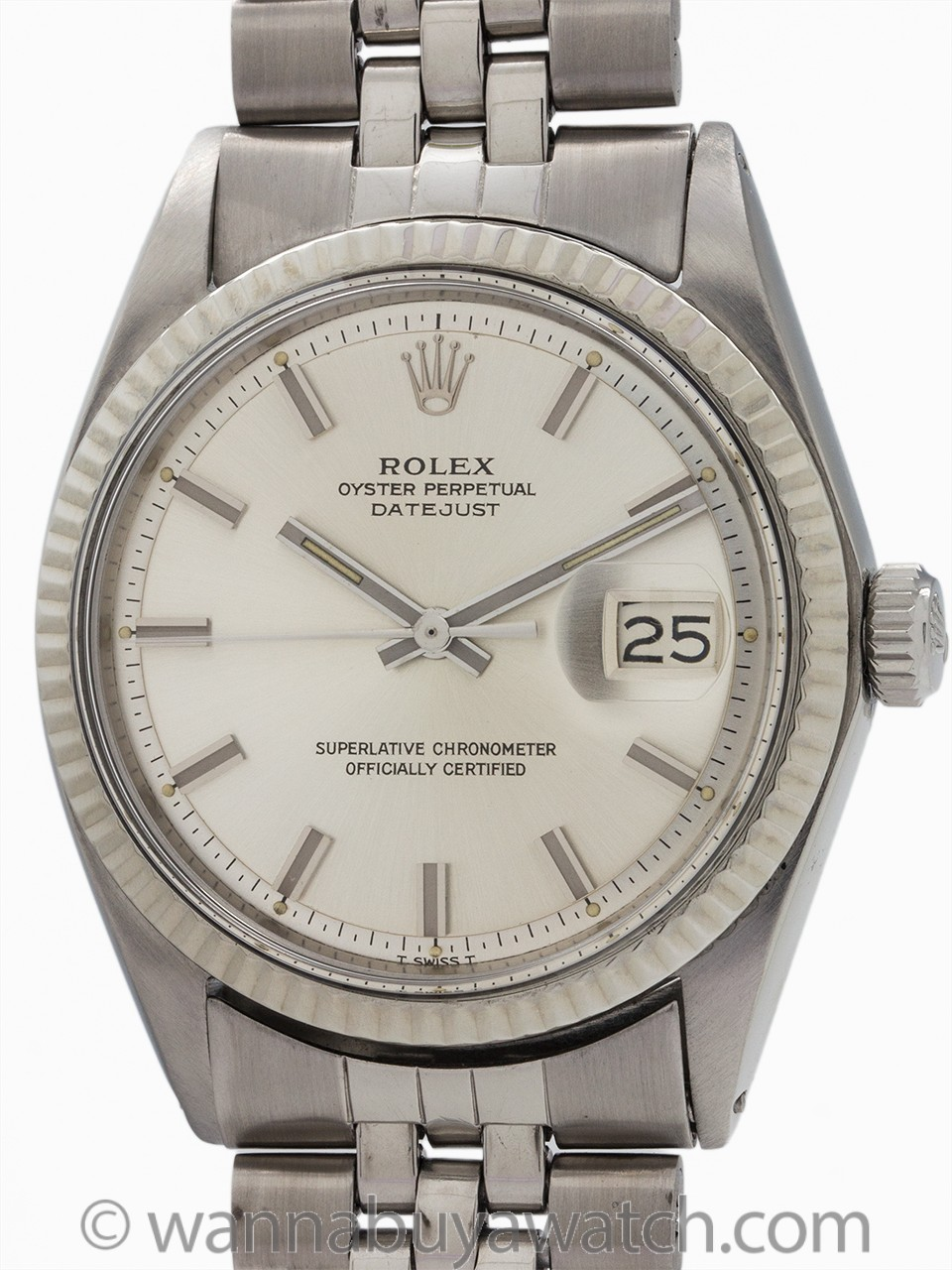 "Rolex Datejust ref 1601 SS/14K WG ""Fat Boy"" circa 1968"
