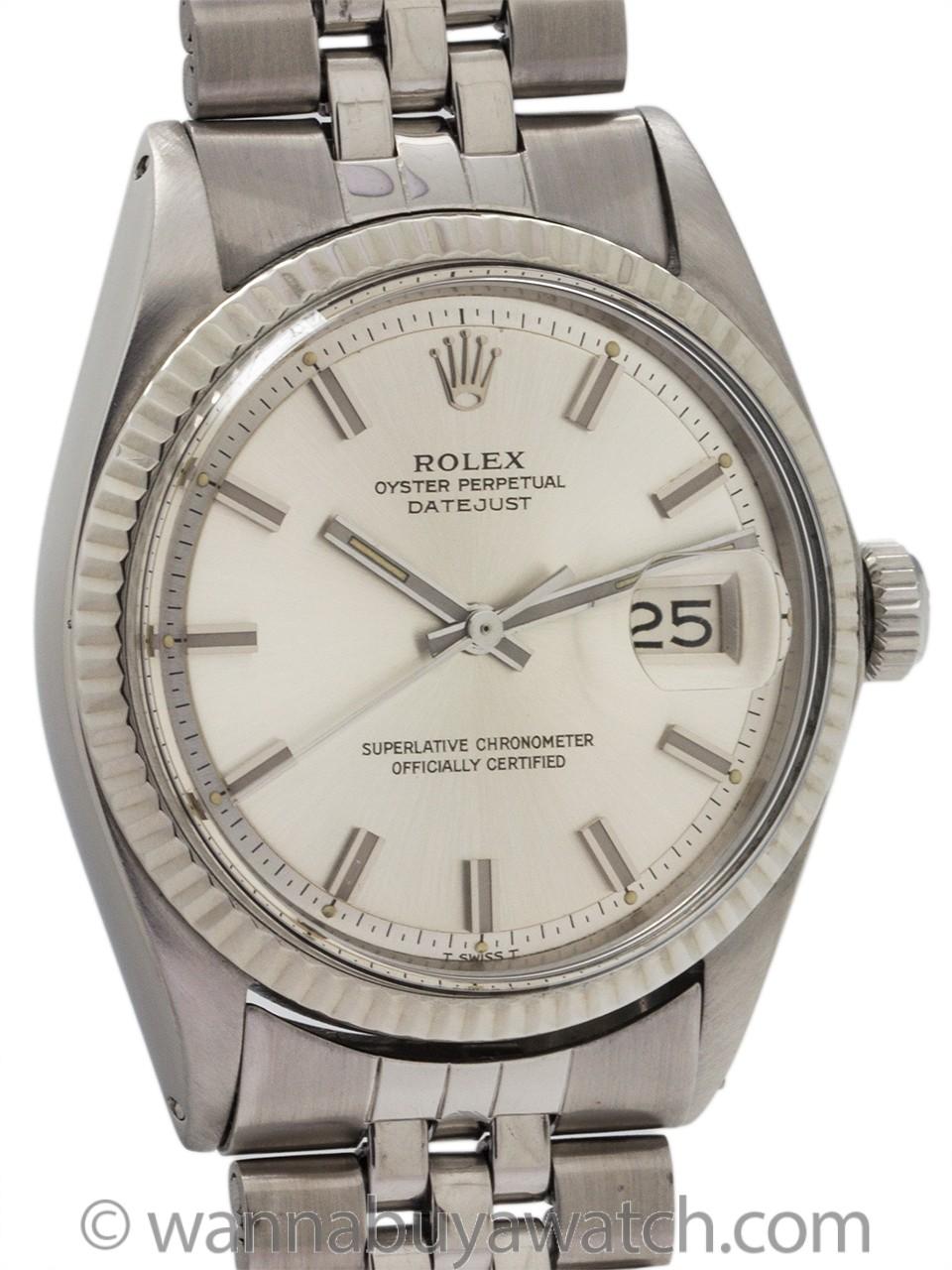 "Rolex Datejust ref 1601 SS/14K WG ""Fat Boy"" circa 1968"
