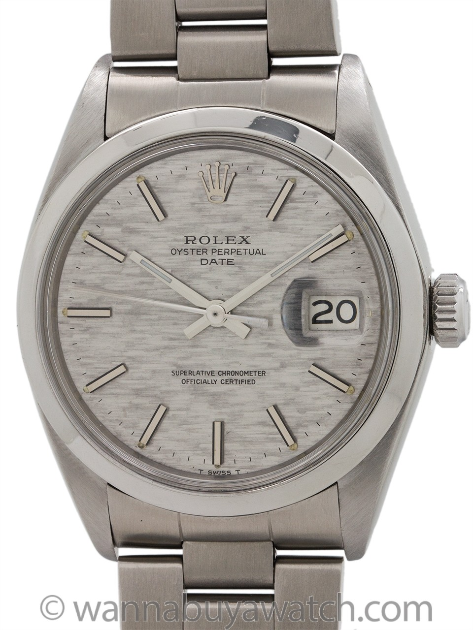 Rolex Oyster Perpetual Date ref 1500 Linen Dial circa 1970