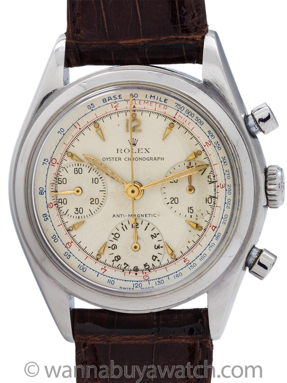 Rolex ref 6034 Chronograph Antimagnetic pre-Daytona circa 1953